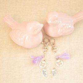 Porte-clef ou bijoux de sac papillon