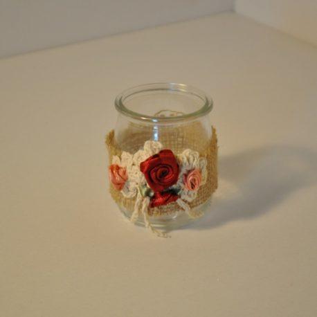 Petit pot en verre recyclé