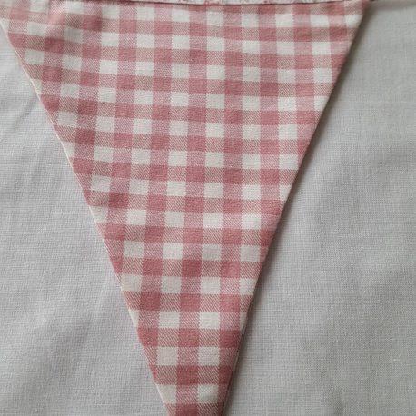 Tissu vichy rose et blanc