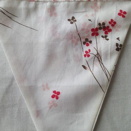 tissu popeline fleurs rose