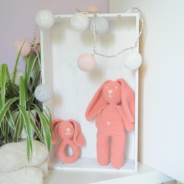 Doudou crochet lapin