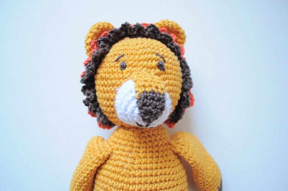 doudou Lion en crochet fait main