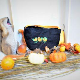 Sac Halloween bicolore noir et orange pour enfant