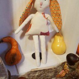 Poupée lapine de chiffon oeko-tex pour bébés et enfant