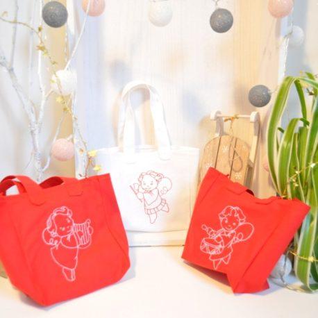 Petits sacs à cadeaux de noël broder d'angelots