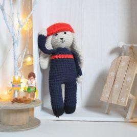 Doudou pompier tout en crochet. Création artisanale - Bébé Boutchou