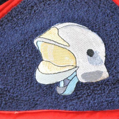 Broderie oeko-tex casque de pompier en gros blanc