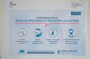 Protocole de protection CORONAVIRUS