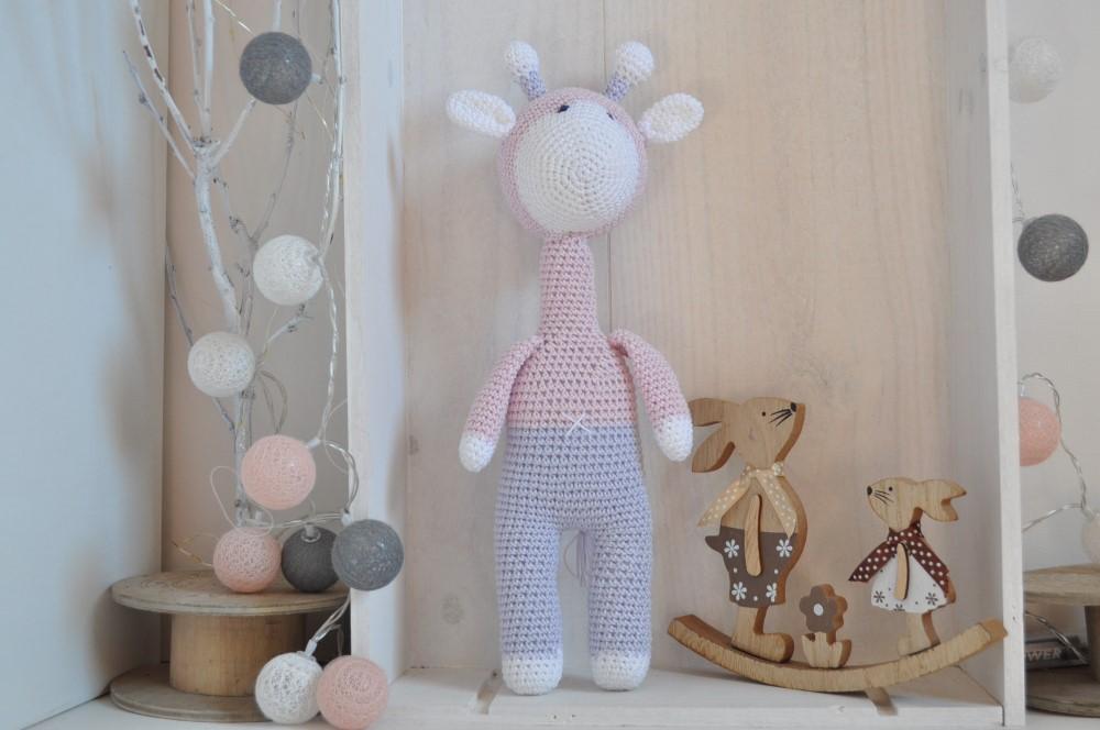 Doudou girafe en crochet fait main