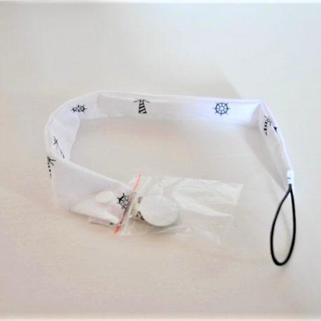 Attache-tétine en tissu oeko-tex pour Bébé et Enfant