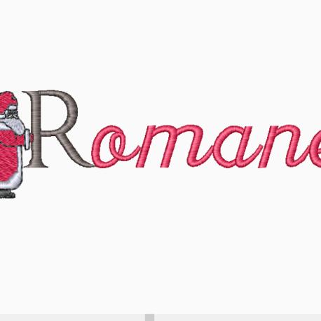 Alphabet pére noel romane