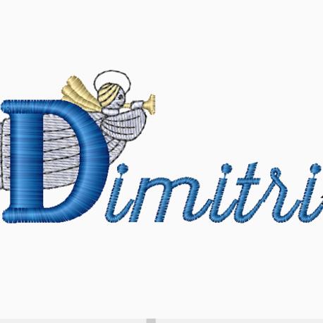 Broderie ange Dimitri