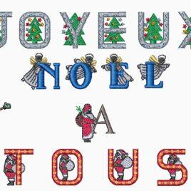 Tableau de broderie Noël. @Bébé-Boutchou