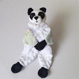Doudou panda fait-main. Fabrication unique -Bébé Boutchou
