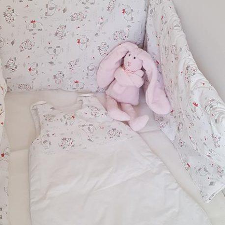 Doudou lapin polaire rose-création artisanale Bébé Boutchou